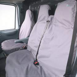 Ford Transit 1995 to 2006 Town and Country Commercial Van Front 3 Seat Covers Set