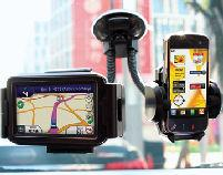 Twin Mobile Phone Sat Nav Suction Holder