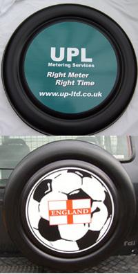 Ford Maverick 1993 onwards Custom Printed 4x4 Spare Wheel Covers
