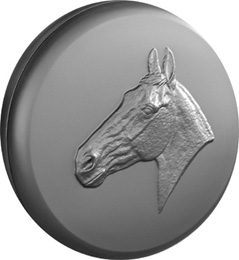 Horse Head Moulded 4x4 Wheel Cover