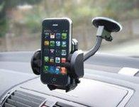Single Mobile Phone Sat Nav Suction Holder