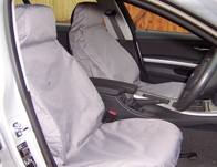 Front Waterproof Car Seat Covers Semi Tailored Fit - Black Front Pair