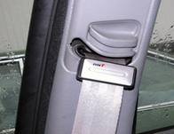 Carpoint seat belt stopper