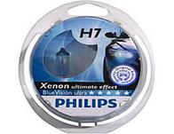 Philips Blue Vision Ultra Xenon Bulbs - H7 twin pack