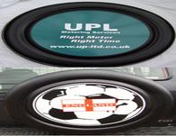 Custom Printed 4x4 Spare Wheel Covers - Wheel Cover with Single Colour Vinyl Printing