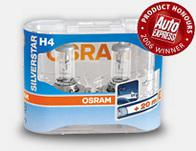 Osram SilverStar + 50% Xenon Bulbs - H7 twin pack