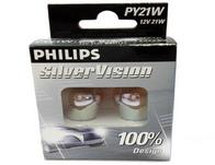 Philips Silver Vision Indicator Bulbs - 1 pair PY21W