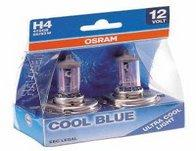Osram Cool Blue Xenon Headlight Bulbs - H1 twin pack