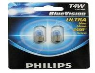 Philips Blue Vision Sidelight Bulbs - T4W twin pack