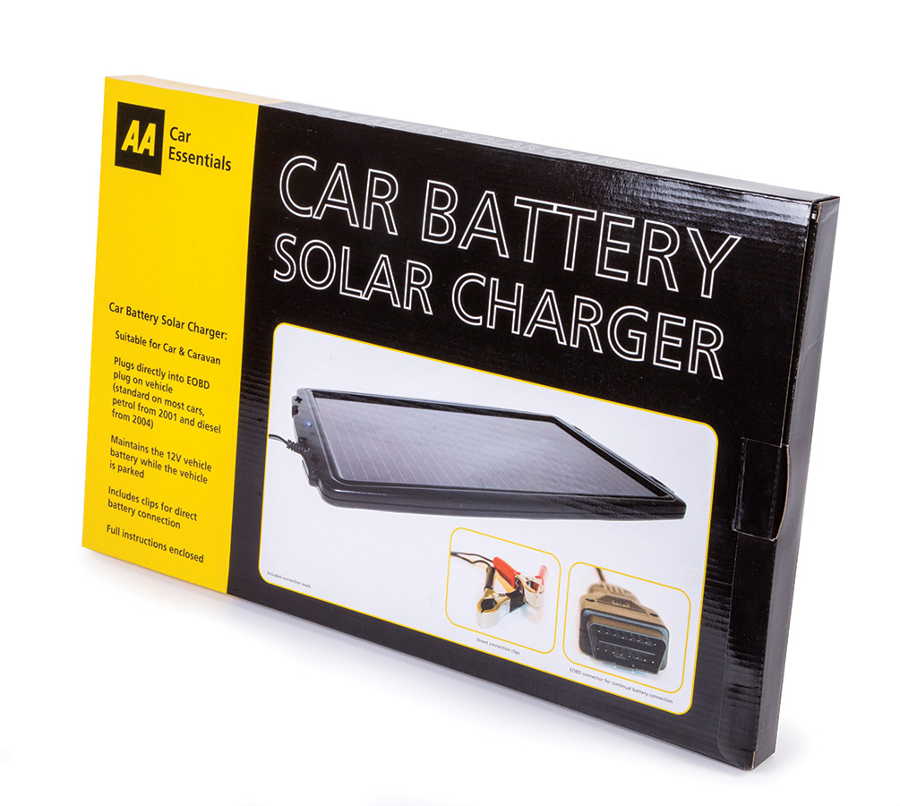 Aa Car Battery Solar Charger Maintainer Conditioner Aa Solar